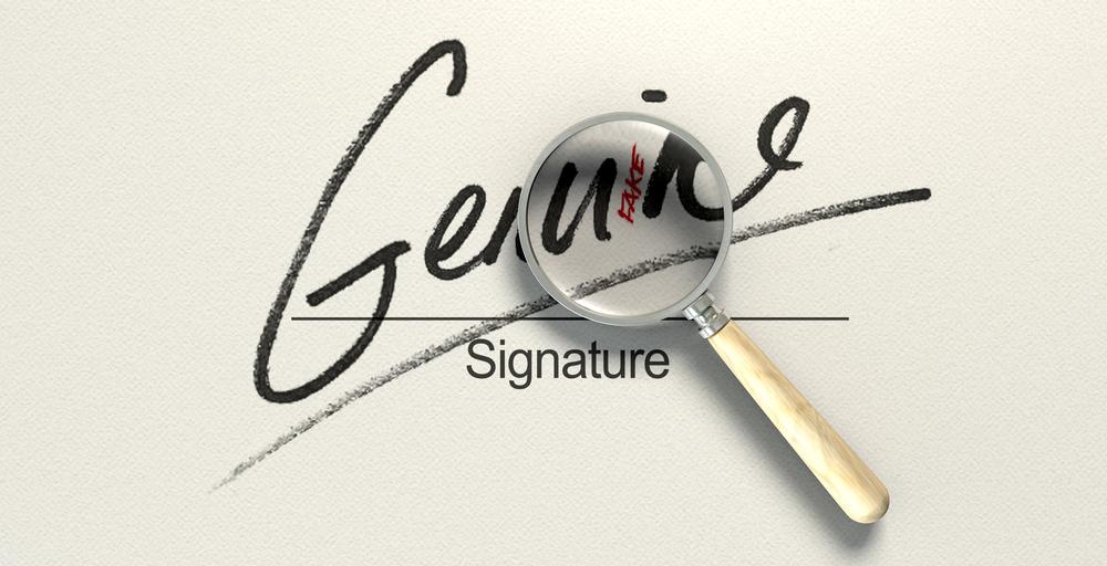 firma falsificada