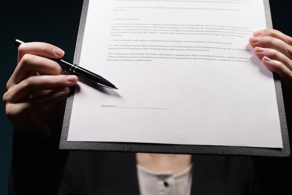 falsificación de firma